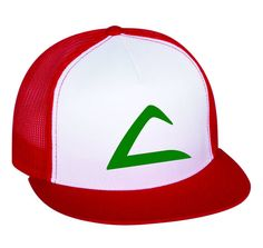 Flat Bill Ash Ketchum Pokemon Trainer Hat with swoosh - Snap Back on Etsy, $17.00