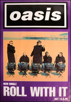 Oasis - Roll With It Poster