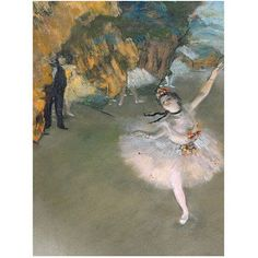 Trademark Fine Art The Star 1876 inch Canvas Art by Edgar Degas, Size: 35 x 47, Multicolor