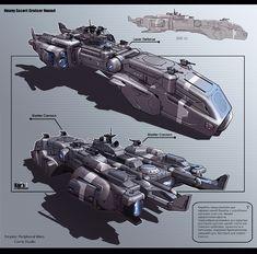 Heavy Escort Cruiser Hound by *KaranaK on deviantART