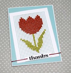 Paper Embroidery It's Pep Rally week and we are here today to share a sampling of the NEW Paper Smooches APRIL 2017 release with you! TWO new stamp se. Mini Cross Stitch, Cross Stitch Cards, Simple Cross Stitch, Paper Embroidery, Learn Embroidery, Cross Stitch Embroidery, Embroidery Patterns, Stitching On Paper, Cross Stitching