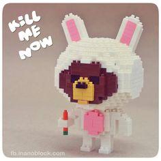 nanoblock Brownie Bear in a bunny costume ... LOL ... http://fb.inanoblock.com for more