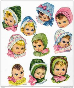 Cromos troquelados de caras de niños Vintage Labels, Vintage Cards, Pipe Cleaner Crafts, Pipe Cleaners, Vintage Pictures, Vintage Images, Chenille Crafts, Baby Clip Art, Decoupage Vintage