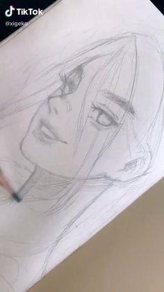 Art Drawings Sketches Simple, Pencil Art Drawings, Realistic Drawings, Cool Drawings, Cartoon Art Styles, Drawing Techniques, Art Sketchbook, Art Tutorials, Cute Art