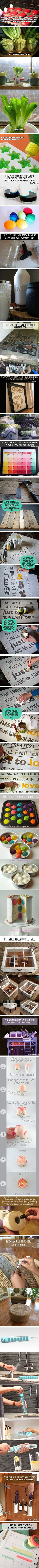 OMG LOVE THESE!!! 43 Amazingly simple but genius ideas to use and reuse stuff | eHow