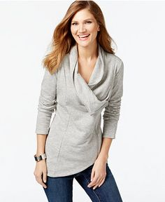 INC International Concepts Asymmetrical Zip-Front Cardigan | For China trip?