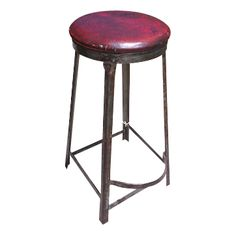 Red Top Stool by Royal Metal Manufacturer of Chicago