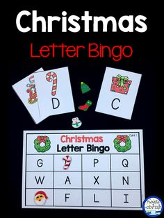 Christmas Letter Bingo - uppercase and lowercase letters for Pre-K and Kindergarten. This is always a fun learning activity for a Christmas party at school.