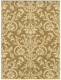 Area Rugs - HGTV Home Flooring by Shaw   Venezia 3VE76 Gold Use rugs over carpets for ease of cleaning & sound reduction