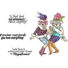 Girlfriends Crazy Friends Cling Rubber Stamp Set by Art Impressions Happy Birthday Sister, Happy Birthday Images, Happy Birthday Cards, Birthday Greetings, Birthday Wishes, Funny Birthday, Happy Birthdays, Free Birthday, Birthday Quotes