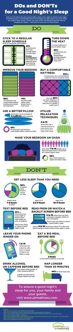 Dos and Dont's for a Good Night's Sleep