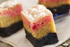 Neopolitan Gooey Cake Bars | Gooey Cake, Cake Bars and Bar
