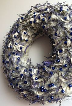 Holiday wreath Wedding wreath Round year by CadeauDeLaNature