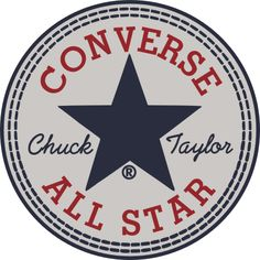 I think the converse logo works because it's very classic looking. They have had the same logo fora long time, but I mean it works. The words are a good size and the star brings it all together.
