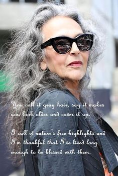 5faaa3e9d23a3 Beautiful grey hair on a beautiful woman. Ageless Beauty, Grey Hair Quotes,  Great