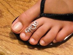 Sterling Silver Toe Ring Twisted Wire Wrapped by forkwhisperer, $15.00