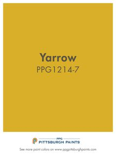 The Yarrow paint color is part of the Yellows color family by PPG Pittsburgh Paints.