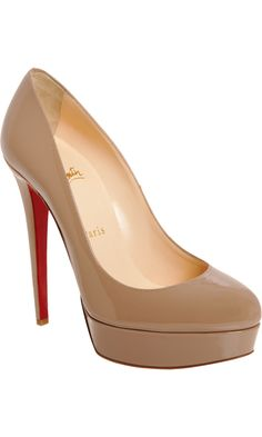 i have this shoe and love it. the louboutin bianca in nude is versatile and is a must for any fashion conosiours wardrobe. they aren't easy to walk in but are totally worth all the compliments you'll get on your look for the night. they look the best with skirts/dresses with bare skin or skin tone tights