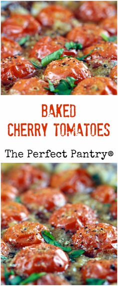Make these baked cherry tomatoes during tomato season, if you can. It's a great dish to bring to a picnic or barbecue.