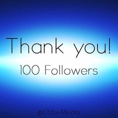 Thank you so much Instagram! We've hit 100 followers! We hope you are enjoying our behind the scenes updates and latest project releases! We can't wait to share more with you! #ThankYou #EbbwMedia #ExcitingNews