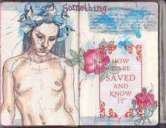 Patricia Grullon https://flic.kr/p/c3htNu   Art Journal 6 pages 59-60   This is what happens when I don't know what to do with a page.