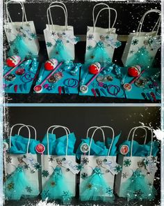 Preparations for a Frozen themed party. Of course the passport . - Preparations for a Frozen themed party. Of course, the matching giveaway bags should not be missing - Elsa Birthday Party, Frozen Birthday Theme, Frozen Theme Party, Blue Birthday, 4th Birthday Parties, Birthday Party Decorations, Matching Gifts, Star Wars Party, Painting