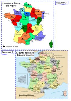 LA FRANCE Maps For Kids, France Map, French Classroom, Document, Education, Learning, Cycle 2, Languages, Homeschooling