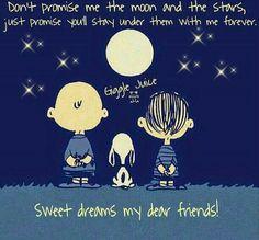 Sweet dreams my dear friends!