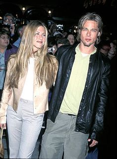 "Jennifer Aniston & Brad Pitt - March 2000 at the Erin Brockovich premiere in CA. ""Brad is the kindest person I know... The sweetest goofball on the planet""  Jennifer Aniston. They married 4 months later on July 29 in Malibu"