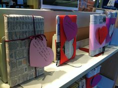 (February 2013)  Blind Date with A Book!  Brief snippets from jacket are written on the tags/wrappers.