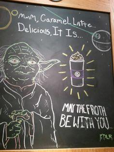 Yoda use the force seeking coffee!