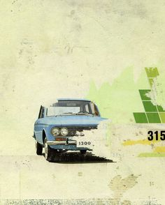 'Blue Car' by Kareem Rizk on artflakes.com as poster or art print $16.63