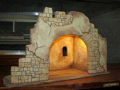 portal artesanal rodrigo garcia istillarty Nativity Stable, Christmas Nativity Scene, Superman, Portal, Xmas, Crafts, Diy, Design, Styrofoam Art