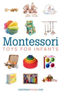 A beautiful aspect of Montessori is the application to life and not simply to education in the classroom alone. Babies are ripe to begin learning and living as Dr. Montessori emphasized in her work. Diy Montessori Toys, Montessori Toddler, Toddler Toys, Toddler Learning Toys, Montessori Materials, Toddler Girls, Baby Girls, 6 Month Old Toys, 4 Month Baby Toys