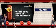 En étant omniprésente dans le métro parisien durant une semaine, la morteau espère bien avoir un ticket avec les Parisiens ! Photo DR
