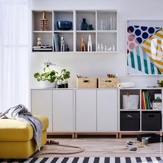 "Ikea ""Eket"" shelving units"