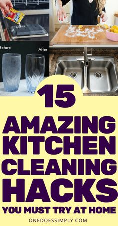 These 15 kitchen cleaning hacks are so GENIUS! This amazing list covers a wide range of kitchen cleaning topic including how to clean a burnt pan, how to clean a wooden cutting board, how to clean a vent hood, and so many more! Save the hacks! Deep Cleaning Tips, House Cleaning Tips, Cleaning Solutions, Spring Cleaning, Cleaning Hacks, Cleaning Recipes, Cleaning Supplies, Homemade Toilet Cleaner, Toilet Cleaning