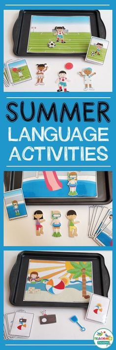 Your students will love these Summer Preschool Language Activities for Speech Therapy. Interactive games engage early learners while teaching basic concepts. Speech Therapy Activities, Language Activities, Preschool Activities, Preschool Kindergarten, Speech Language Pathology, Speech And Language, Montessori, English Language, Language Arts