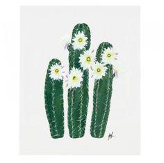 Flowering Cacti Print, Yucca Valley