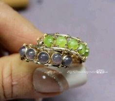 Beaded wired rings