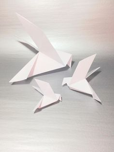Image only - Etsy White Origami  Doves Large Over-sized Origami Doves Wedding
