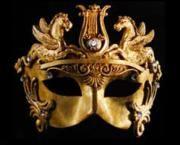 Handmade Gold Barroque Mask