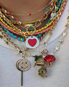 Funky Jewelry, Fall Jewelry, Hippie Jewelry, Trendy Jewelry, Cute Jewelry, Beaded Jewelry, Beaded Necklace, Jewelry Box, Fashion Necklace