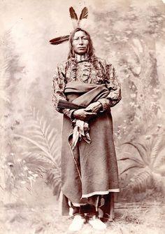 Chief Crow King. Hunkpapa Lakota. ca. 1880. Mandan, Dakota. Photo by Zalman Gilbert.