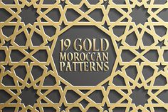 Set of 19 backgrounds with gold seamless pattern on black in islamic style. The archive contains: - 19 Vector EPS files with seamless patterns. - 19 JPEG files of every pattern: - 15 files in resolution 5000 × 5000 px - 1 in 4900 x 3400 px - 1 in 5000 x 3400 px - 1 in 5000 x 6800 px - 1 in 4190 x 4875 px Check out related sets: - Grey Islamic