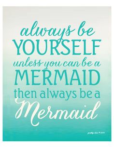 Always Be A Mermaid Beach House Art by prettychicsf