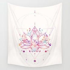 Lotus Prism Wall Tapestry