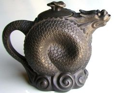 Curled Water Dragon Yixing Teapot ~ 23 Ounces >>> See this great product. Clay Teapots, Teapots And Cups, Dragon Tea, Water Dragon, Dragon Lady, Sea Dragon, Yixing Teapot, Teapots Unique, Tea Companies