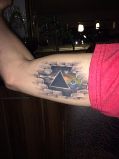 Dark side of the moon prism tattoo