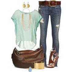 Cómo combinar los Jeans azules - Outfits de moda